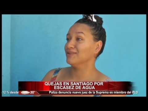 Quejas en Santiago por escasez de agua