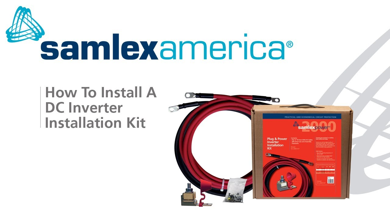 How To Connect An Inverter A Battery Using Samlex Cable Fuse Details About 200a 12v Circuit Breaker Replace Car 200 Amp Kit