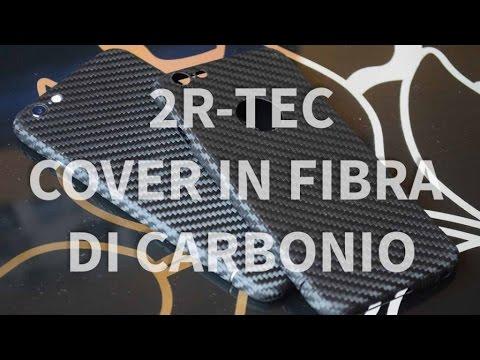 2R-Tec Carbon Cover per iPhone 6 6 Plus 6s e 6s Plus - La