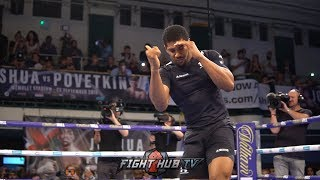 ANTHONY JOSHUA LOOKING SMOOTH ON HIS FEET -  AJ OPEN WORKOUT
