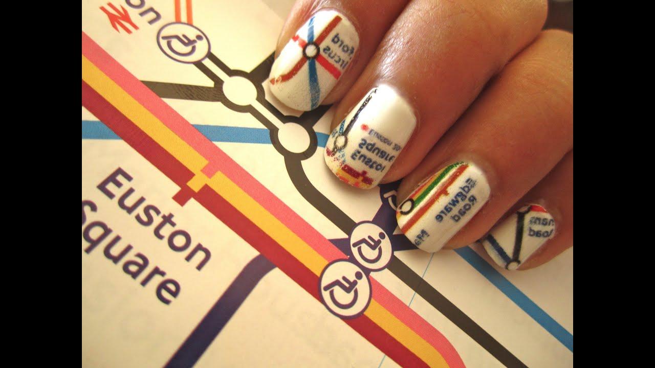 London Underground Map Nails - YouTube