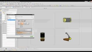 Помещение представлений сборки на чертёж в NX CAD