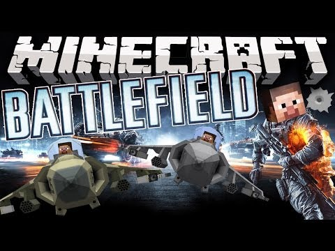 Minecraft: BATTLEFIELD MOD! (Fighter Jets, Helicopters, Tanks, Guns, & MORE!)   Mod Showcase