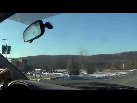 Driving through Pennsylvania State University Lehigh Valley Campus in Center Valley, PA