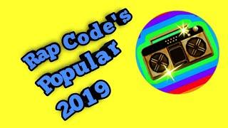 "ROBLOX | *10* Popular Rap Music Code's/ID'S ""2019"""