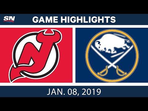 NHL Highlights | Devils vs. Sabres - Jan. 8, 2019