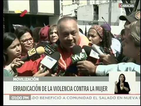 Diosdado Cabello, declaraciones en marcha del Día para Erradicar Violencia contra la Mujer
