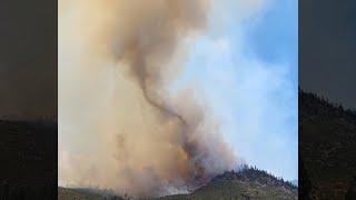 Tamarack Fire creates a possible tornado