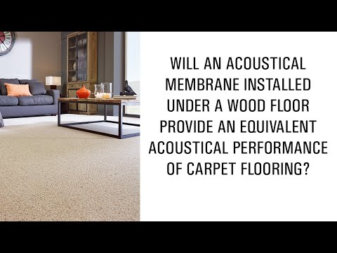 Will a membrane installed under a wood floor provide an equivalent performance of carpet flooring?