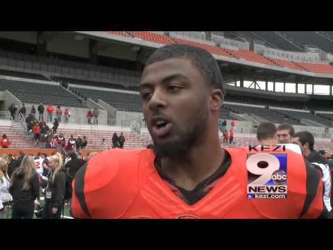 Ryan Murphy after the 2014 Oregon State Spring Showcase