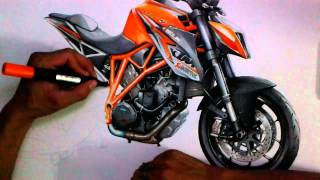 Drawing Super duke 1290