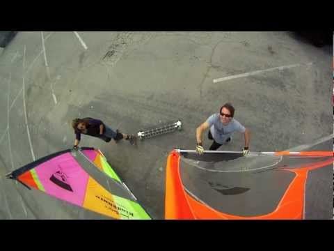 Wind Skate in Santa Monica Ca - GoPro Hero HD Camera - Jaime Budge - Dave Cindrich