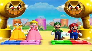 Mario Party 5 MiniGames - Mario Vs Luigi Vs Daisy Vs Peach (Master Difficulty)