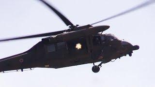 Japanese Army UH-60JA Black Hawk Helicopter Door Gunner Browning .50 Caliber Machine Gun JGSDF