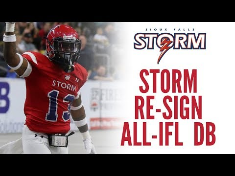 Storm Re-Sign All-IFL DB Trey Wafford