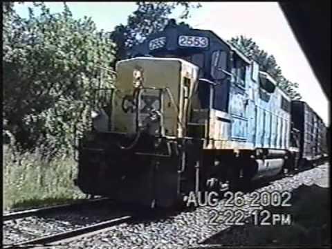 CSX B778 Switching in Lacona NY 8-26-2002