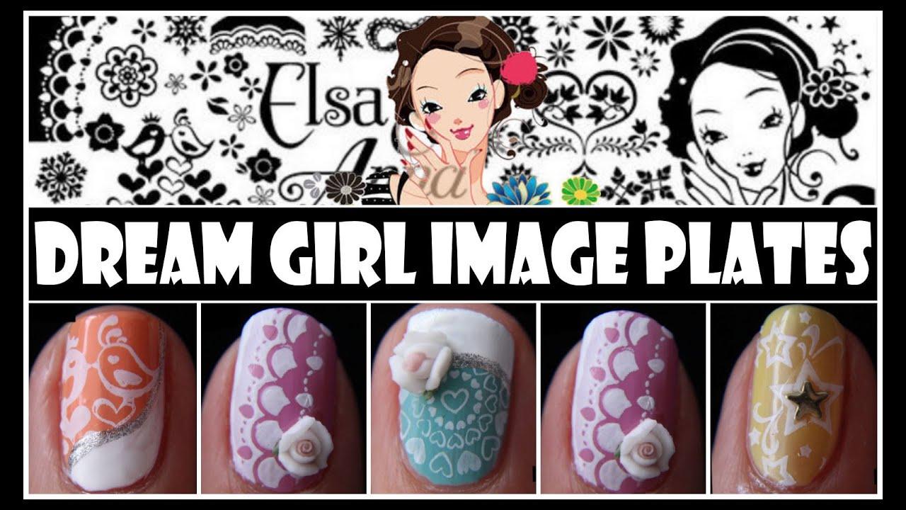 Dream Girl Stamping Nail Art Designs Konad Tutorial For Short Nails