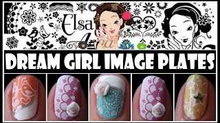 DREAM GIRL STAMPING NAIL ART DESIGNS| KONAD TUTORIAL FOR SHORT NAILS IMAGE PLATE