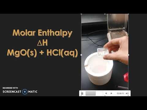 Molar Enthalpy MgO + HCl