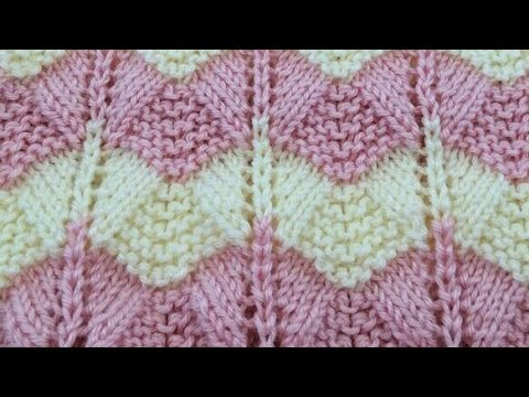 Zigzag Lace Knitting Design In Hindi Border Cardigan Two Color