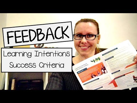 FEEDBACK using Learning Intentions & Success Criteria