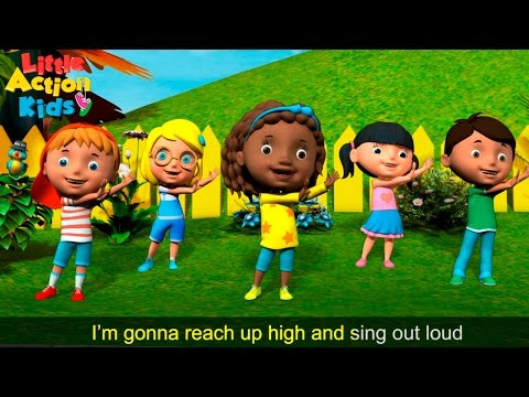 The Tofa Tafa Song  The BEST Action Song for Children  Little Action Kids👍