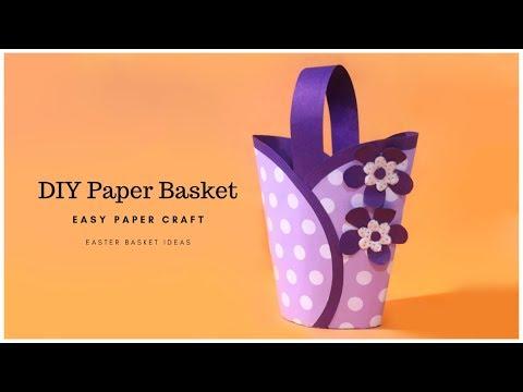 EASY Paper Basket DIY Craft Idea | How to Make Paper Basket | Easter Basket Idea