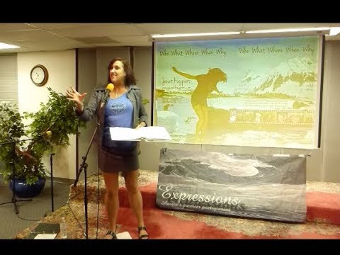 """Janet Kuypers reads her poem """"Death Takes Many Forms"""" live at Austin's Baha'i Center 12/2/17 L56."""