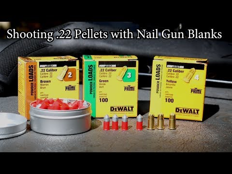 Download Youtube: Shooting 22 Pellets with Nail Gun Blanks