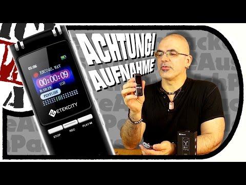 ETEKCiTY 8GB Voice Recorder - günstiges AUFNAHMEGERÄT (Unboxing/Test)