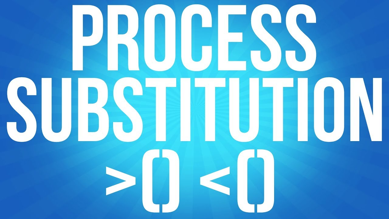 How to use Process Substitution in BASH