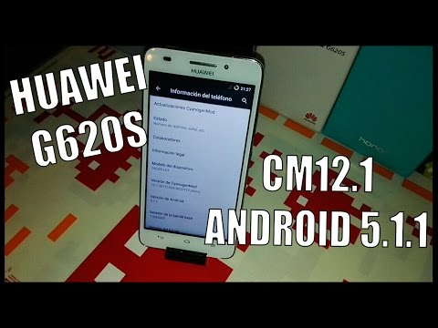 ANDROID LOLLIPOP - HUAWEI G620S (CM12.1)