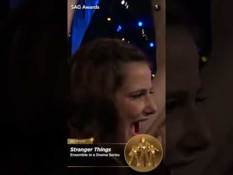 Stranger Things cast  SAG Award 2017 Snapchat Story