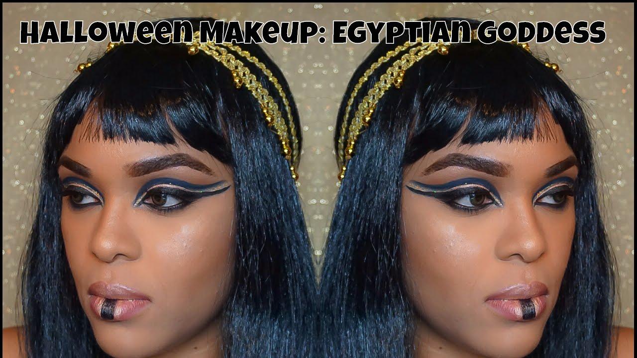 Halloween Makeup: Egyptian Goddess Makeup - YouTube