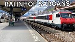 Züge beim Bahnhof Sargans
