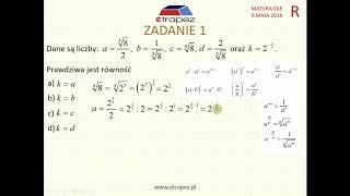[Zadanie 1] Matura z matematyki poziom rozszerzony. Maj 2018.
