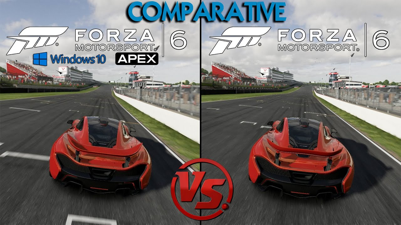 forza 6 apex beta pc vs forza 6 xbox mclaren p1 brands hatch graphics sounds. Black Bedroom Furniture Sets. Home Design Ideas