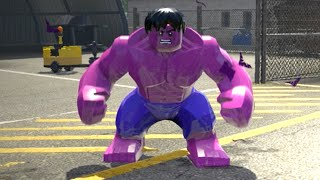 LEGO Marvel Superheroes - PINK HULK FREE ROAM GAMEPLAY (MOD SHOWCASE)