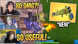 Streamers First Time Using *NEW* Quad Rocket Launcher! - Fortnite Best and Funny Moments