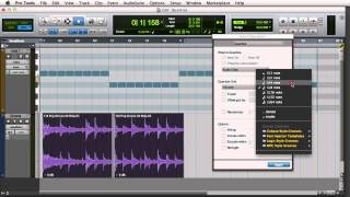 Quantizing Audio and MIDI in Pro Tools