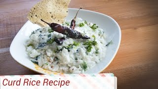 South Indian Curd Rice Recipe.Easy u0026 Simple