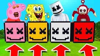 Minecraft PE : DO NOT CHOOSE THE WRONG MARSHMELLO! (Peppa Pig, Spongebob, Marshmello & Po) Video