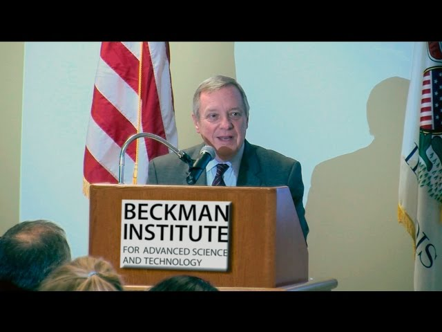 A screenshot from Senator Durbin on Funding for Biomedical Research (Full Presentation)