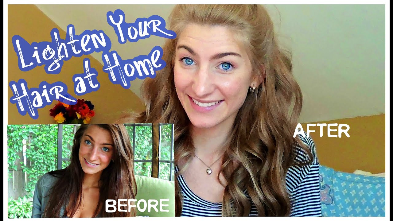 Safely Lighten Your Hair At Home Youtube