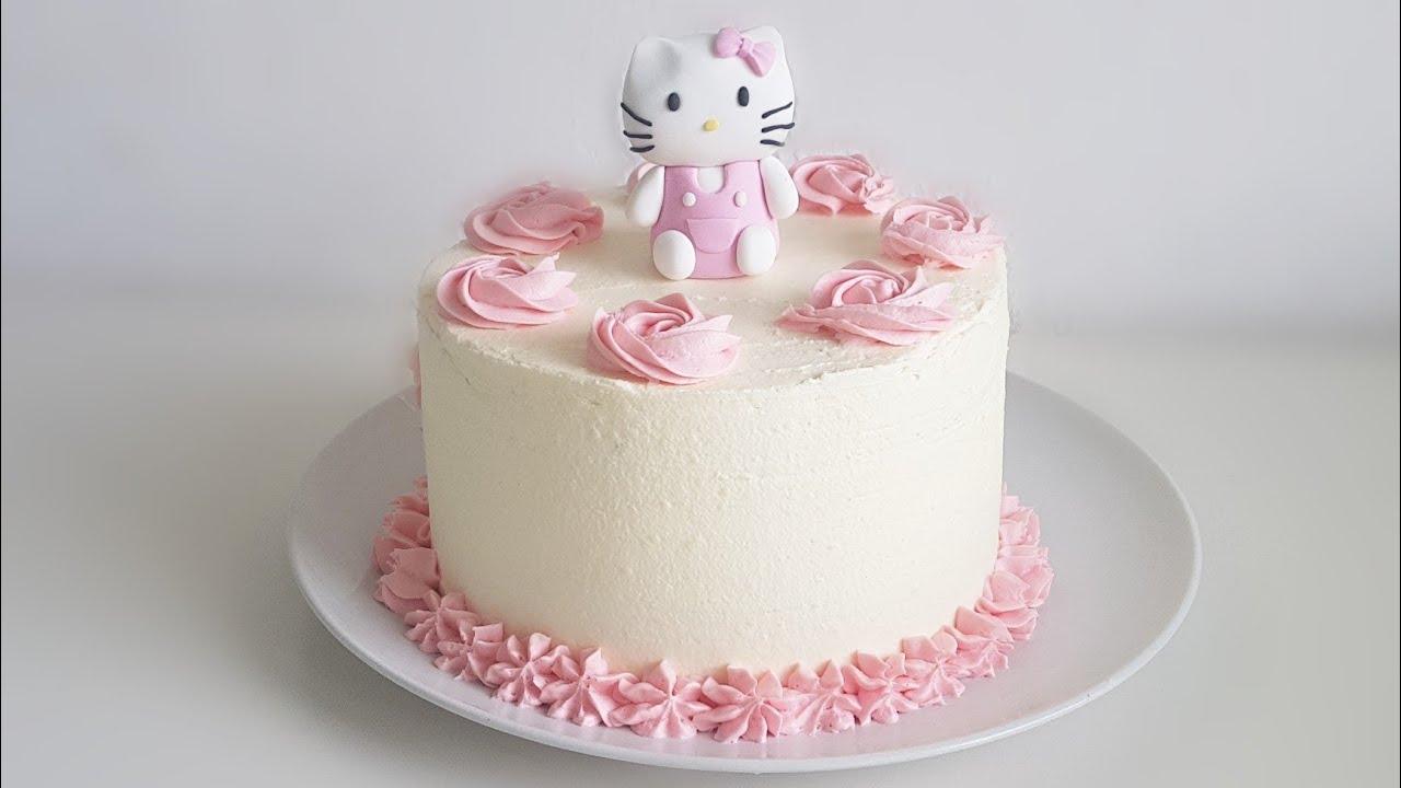 Hello Kitty Torte mit Fondantfigur / Hello Kitty cake ...
