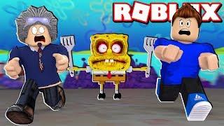 We FACE the EVIL SPONGE BOB in ROBLOX