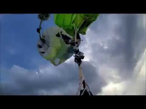 Skydive Gone Wrong - Cutaway to double malfunction - Never Give up