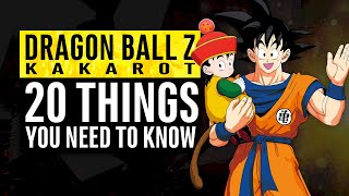 Dragon Ball Z Kakarot | 20 Things You Need To Know