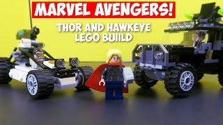 Thor and Hawkeye - Superhero Battle! - Avengers LEGO Set 76030 - Time Lapse Build and Review