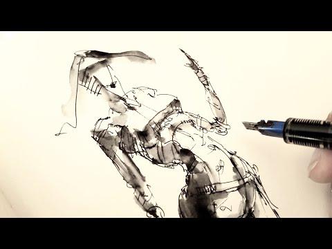 Как нарисовать человека - фигура девушки   - техника скетчинга . Быстро и просто Эдуард Кичигин